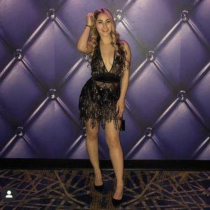 Fringe and sequin dress